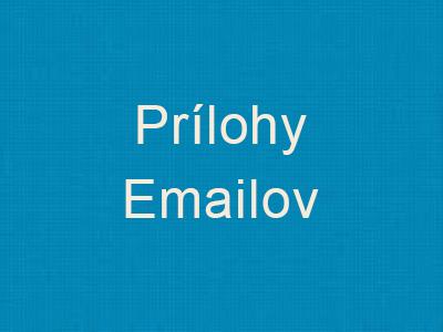 Prílohy Emailov